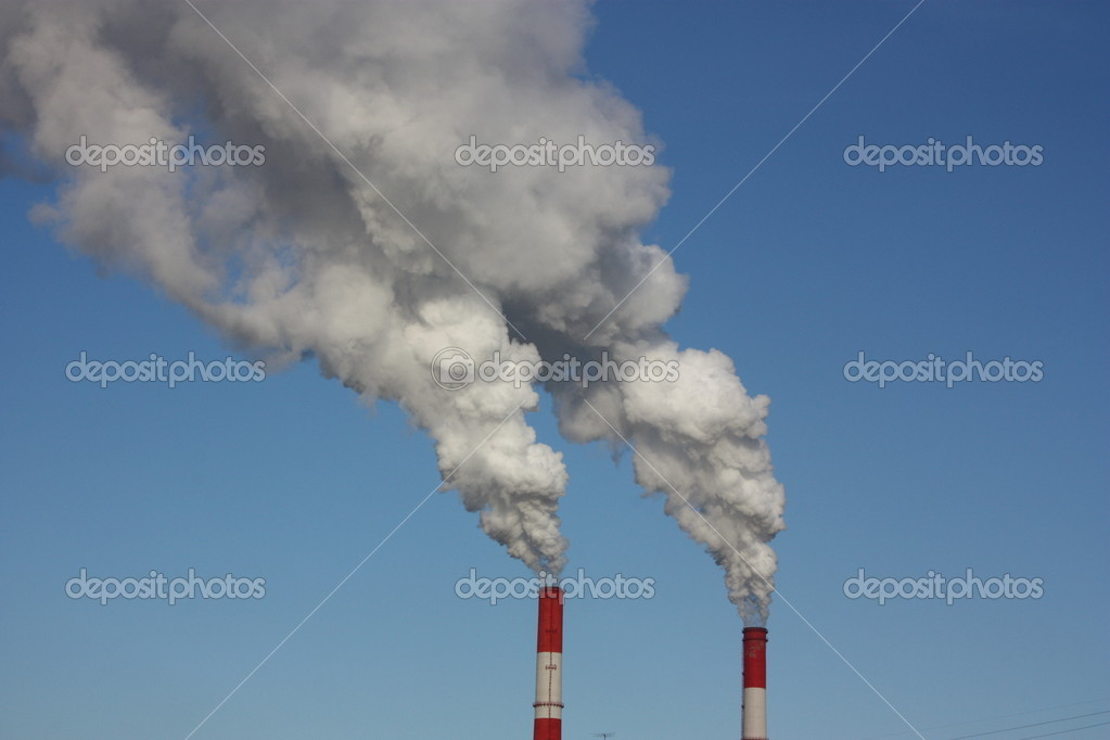 Smoke from the pipes.  Stock Photo #4373855