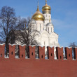 Stock Photo: Cupolas of Moscow Kremlin.