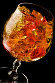 Glass filled with jelly — Stock Photo