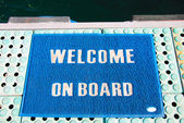 Welcome on board — Stock Photo