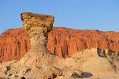 Sandstone formation in Ischigualasto, Argentina. — Stock Photo