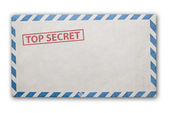 Old top secret envelope isolated. — Stock Photo