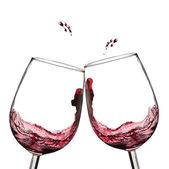 Wine toast. — Stock Photo