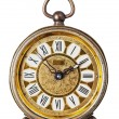 Antique clock isolated. — Stock Photo