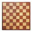 Old wooden chess board isolated. — Stock Photo #4776400