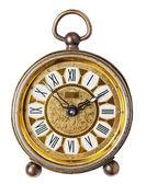 Antique clock isolated. — Stock Photo