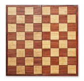 Old wooden chess board isolated. — Stock Photo