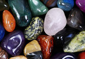 Natural colored stones — Stock Photo