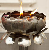 Candle stand in temple — Stock Photo