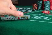 The winning hand poker — Stock Photo
