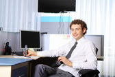 Business team working at office — Stock Photo