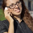 Business woman speaking on the phone — Stock Photo