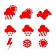 Weather icons set - Stok Vektör