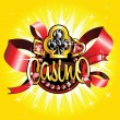 Royalty-Free Stock Векторное изображение: Golden casino badge on shiny background