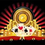 Golden roulette wheel — Stock Vector