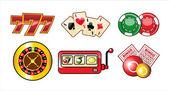 казино набор иконок — Cтоковый вектор