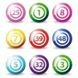 Bingo balls - Stock Vector