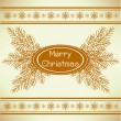 Marry christmas vintage greeting card — Stock Vector #4138280