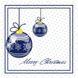 Marry christmas vintage card — Stock Vector