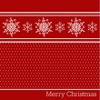 Merry christmas red background — Stock Vector