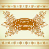 Marry christmas vintage greeting card — Stock Vector