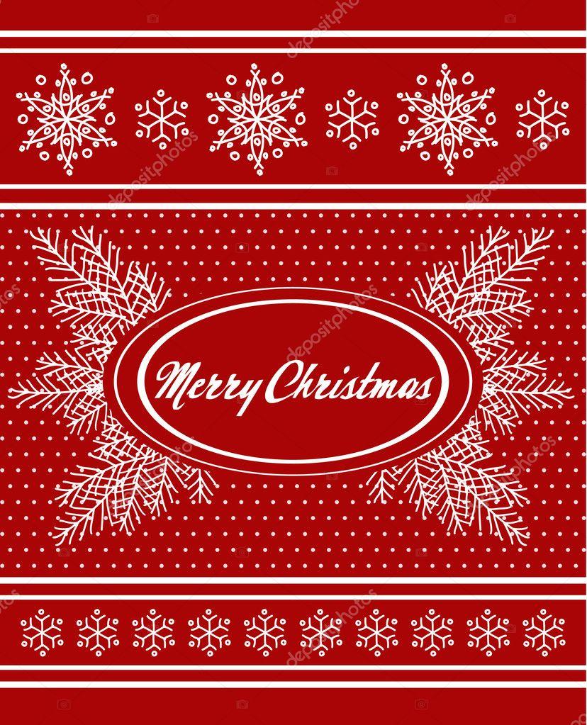 red christmas design — stock vector © sonulkaster #4138363