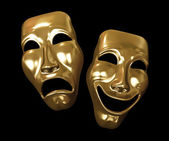 Drama and comedy masks — Stock Photo
