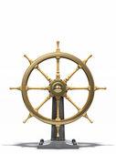 Old ship wheel — Stock Photo