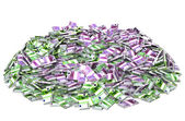 Huge pile of money — Stock Photo