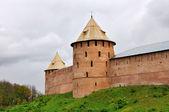 Veliky Novgorod fortress wall — Stock Photo