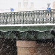 Stock Photo: Views of St. Petersburg, Orthodox Cathedral of shroud of snow