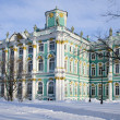 Stock Photo: Hermitage, St. Petersburg. Winter sunny day, snow