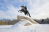 The Bronze Horseman. Monument to Peter the Great. St. Petersburg — Stock Photo