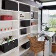 Modern interior of home office - 图库照片