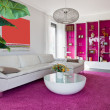 Modern house, living-room with the modern furniture — Stok fotoğraf