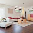 Modern house, living-room with the modern furniture — Stock Photo