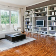 Stock Photo: Modern house, living-room with the modern furniture