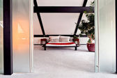 Belo interior de um quarto moderno — Fotografia Stock