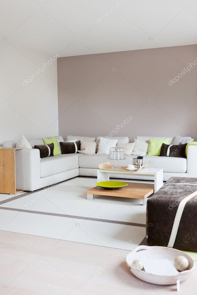 Modern house, living-room with the modern furniture  Stock Photo #5016176
