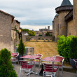 The street scene in Carcassonne — Stock Photo