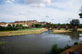 Castle of Carcassonne - south of France — Stock Photo