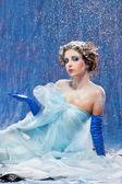 Beautiful girl like Snow White — Stock Photo