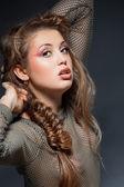 Vrouw met glamour make-up — Stockfoto