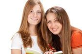 Ragazza due giovane studente felice — Foto Stock