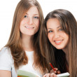 Two young happy student girl — Stock Photo #5133469