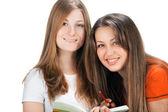 Dos jóvenes estudiante feliz — Foto de Stock