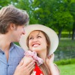 Two young lovers — Stock Photo