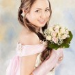 Beautiful woman dressed as a bride — Stock Photo #5362680