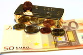 Gold und Geld — Stock Photo