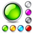 Royalty-Free Stock Vector Image: Glossy buttons.